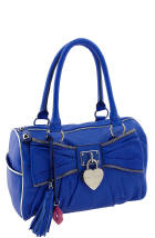 Trendy Blue Patent Leather Bags