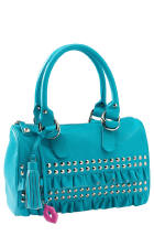 Designer Blue Leather Bag